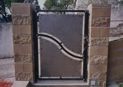 47 Puerta Finca Acero Inox Moderna