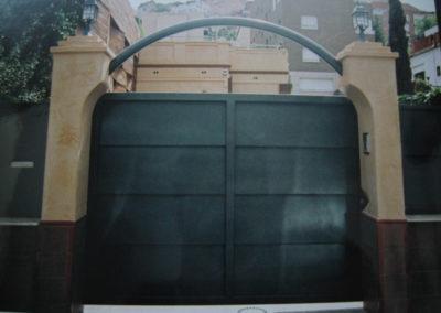 64 Puerta Entrada Acero Inox para Coches