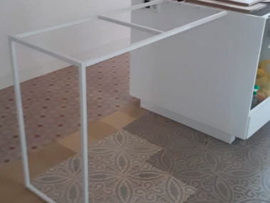 estructura metálica para escritorio