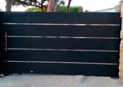 puerta automática para chalet
